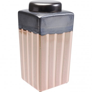 Deko Jar Mocca Stripes 30cm Kare Design