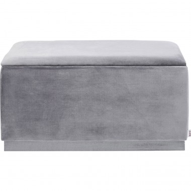 Bench Cherry Storage Grey  80cm Kare Design