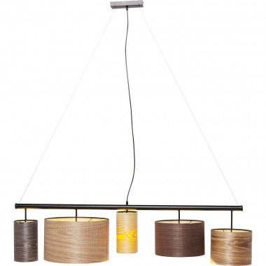 Pendant Lamp Parecchi Wood Colore 100cm Kare Design