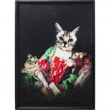 Tableau Frame Lady Cat 80x60cm