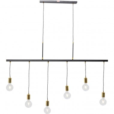 Pendant Lamp Pole Black Six Kare Design