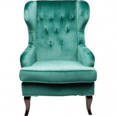 Wing Arm Chair Vintage Green Kare Design