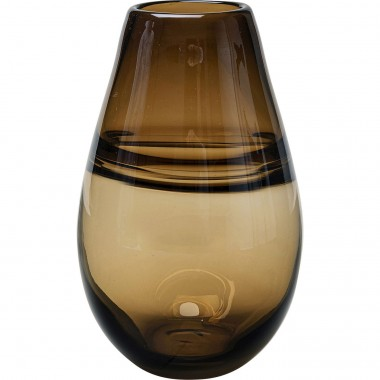 Vase Dallas Drop Brown 21cm Kare Design