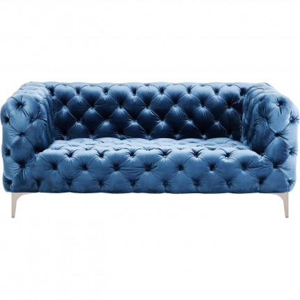 Sofa Look 180cm Velvet Blue Kare Design