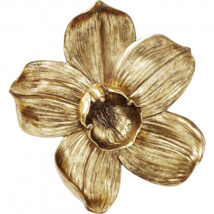 Déco murale Orchidée dorée 44cm Kare Design
