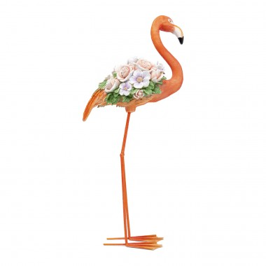 Objet décoratif Flamingo Flower Power orange 75cm