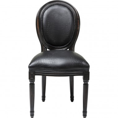 Chaise Gastro Louis croco noir
