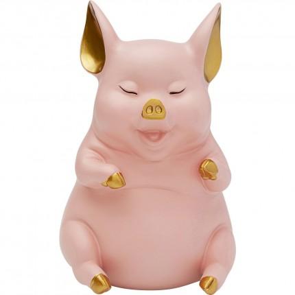 Tirelire Pig Sitting fuchsia