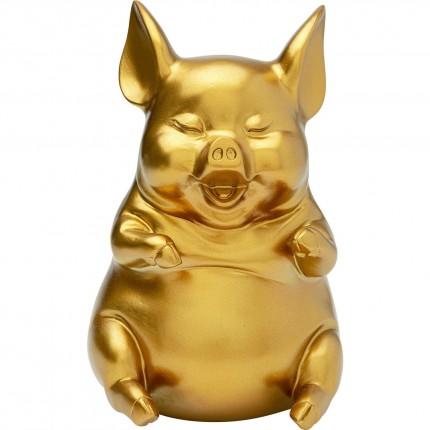 Tirelire Pig Sitting doré