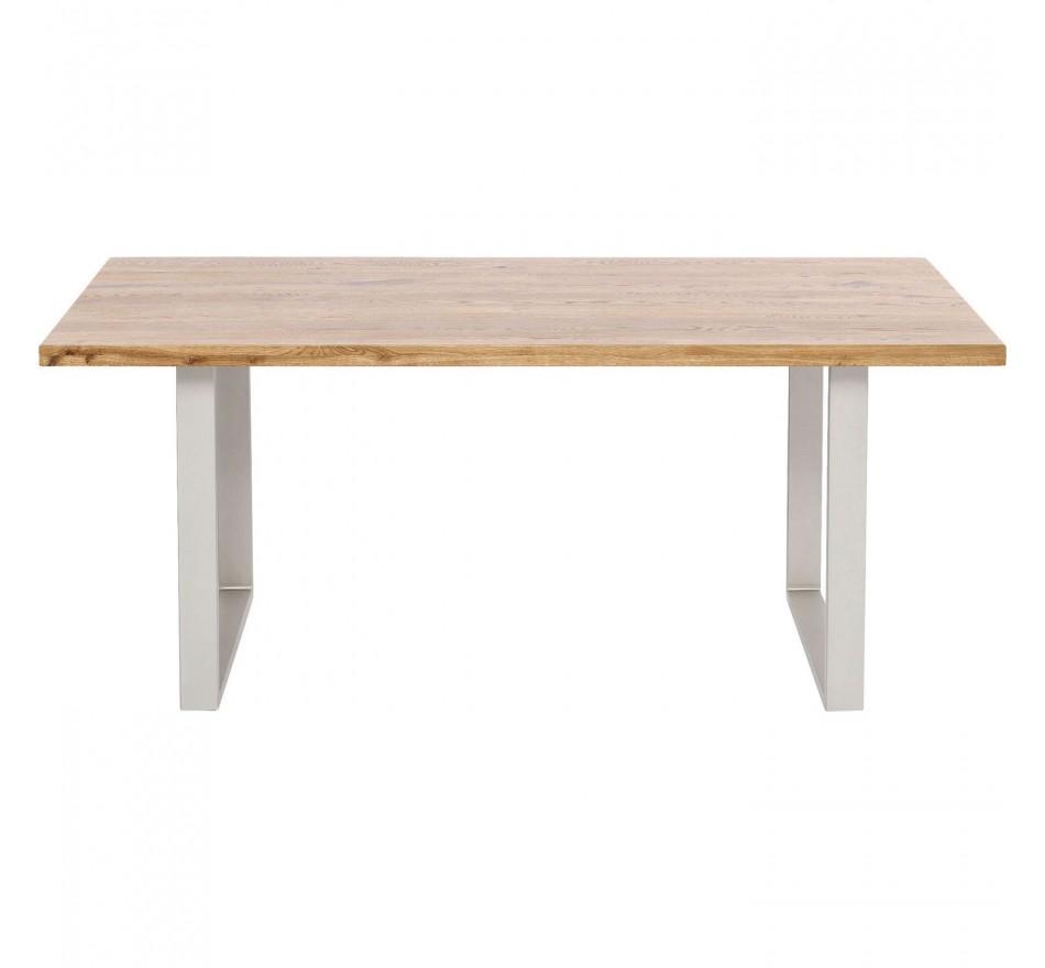 Table Jackie chêne-argenté 160x80