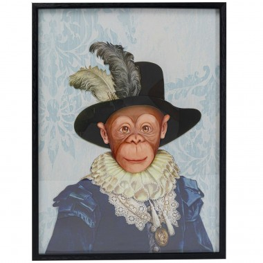 Tableau Frame Art Monkey Sir 80x60cm
