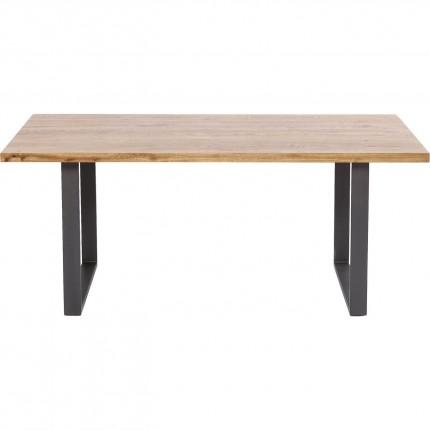 Table Jackie chêne-acier brut 160x80