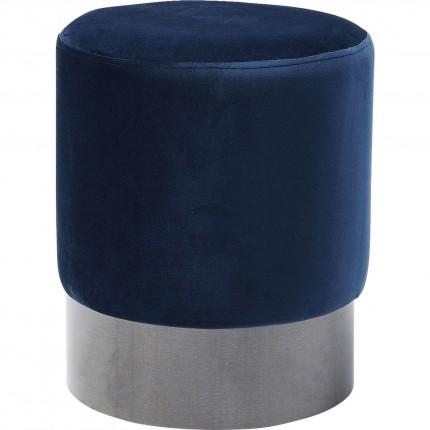 Stool James Blue Black Ø35cm Kare Design