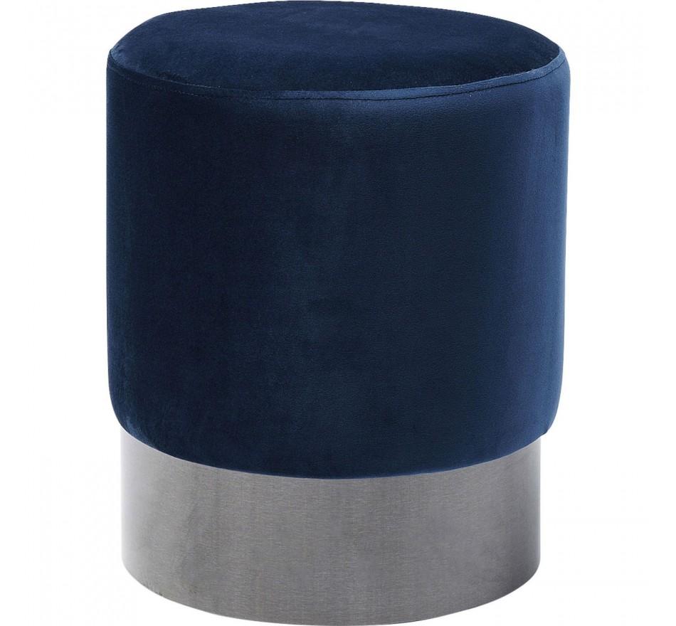 Tabouret James bleu noir Ø35cm