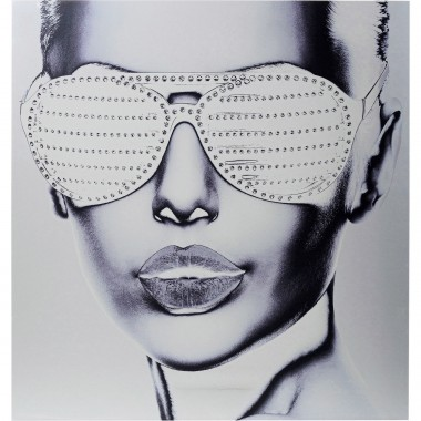 Tableau Alu Cool Girl 120x120cm