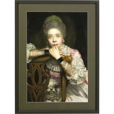 Tableau Frame Incognito Sitting Countess 112x82cm