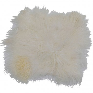 Seat Cushion Heidi Fur White 40x40cm
