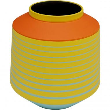 Vase Happy Day jaune 21cm