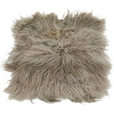 Seat Cushion Heidi Fur Grey 40x40cm