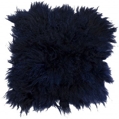 Seat Cushion Heidi Fur Blue 40x40cm