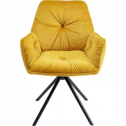 Chair with Armrest Mila Yellow Kare Design