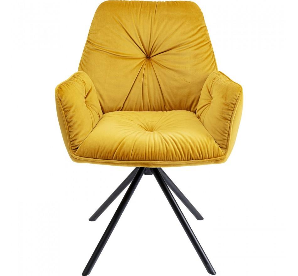 Chaise a./acc. Mila jaune