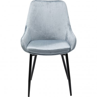 Chaise East Side velours gris Kare Design