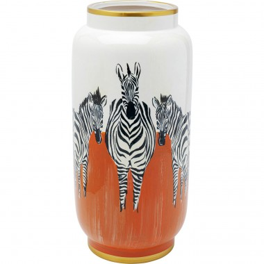 Vase Zebra orange 39cm
