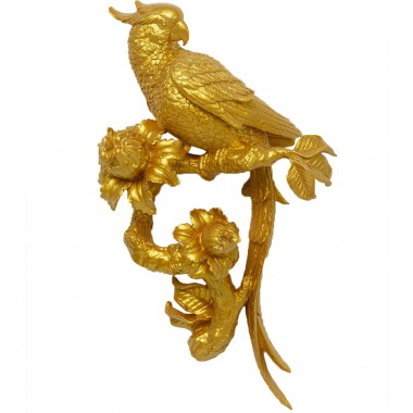 Wall Decoration Parrot Gold 50cm Kare Design