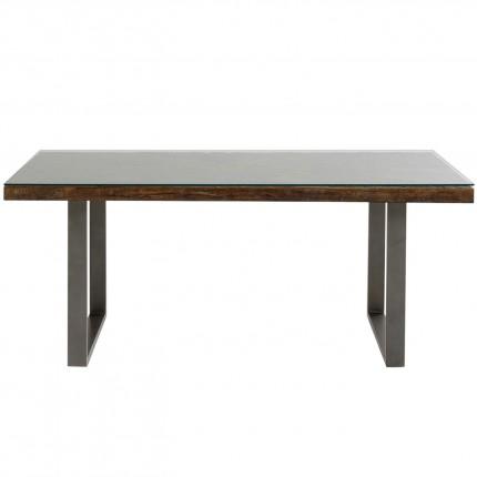 Table Conley acier brut 180x90