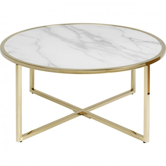 White Marble Effect Coffee Table West Beach Kare Design