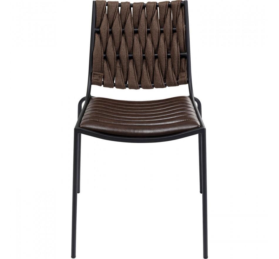 Chaise Two Face Dark marron