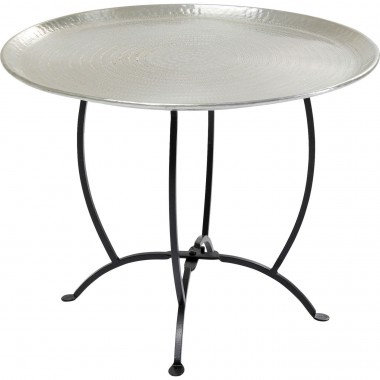 Table d'appoint Oasis 55cm argent Kare Design