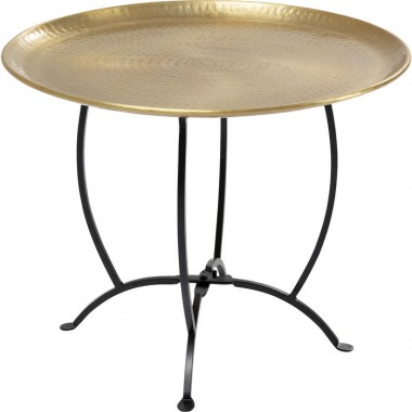 Table d'appoint Oasis doré 55cm Kare Design