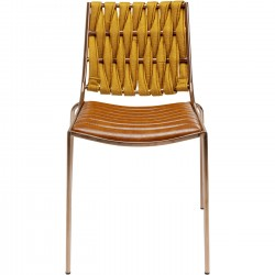Chair Two Face Clear Brown Kare Design