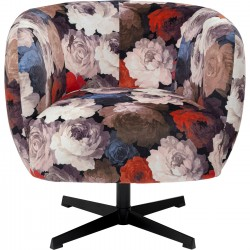 Fauteuil pivotant Peony rouge