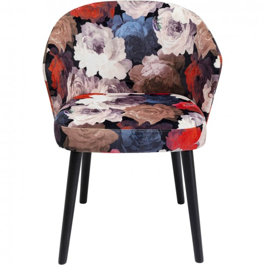 Chaise à./acc. Peony rouge