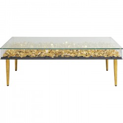 Table basse Gold Flowers 120x60cm