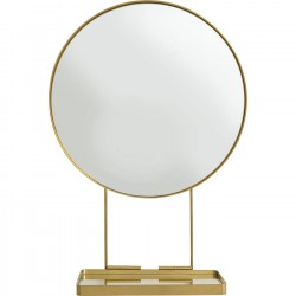 Miroir avec tablette Art Ø60cm