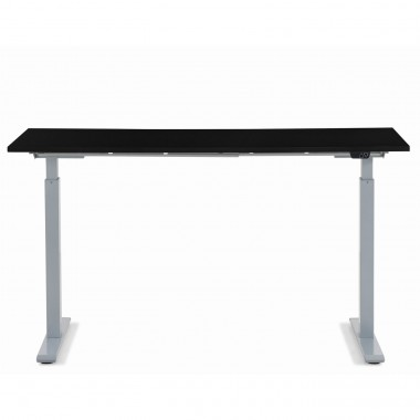 Desk Office Grey Black 140x60cm