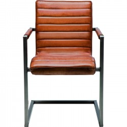 Chair Cantilever Riffle Buffalo Brown Kare Design