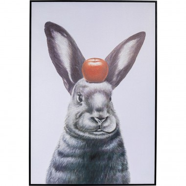 Tableau Frame Art Apple On A Bunny 120x80cm