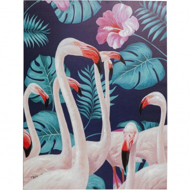 Tableau Touched Flamingo Road Nature 122x92cm