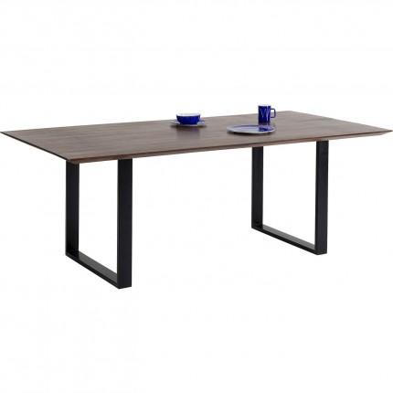 Table Symphony Walnut Black 160x80cm Kare Design