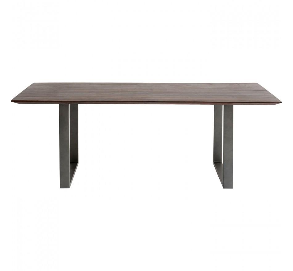 Table Symphony Walnut Crude Steel 200x100cm Kare Design