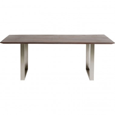 Table Symphony Walnut Chrome 160x80cm Kare Design