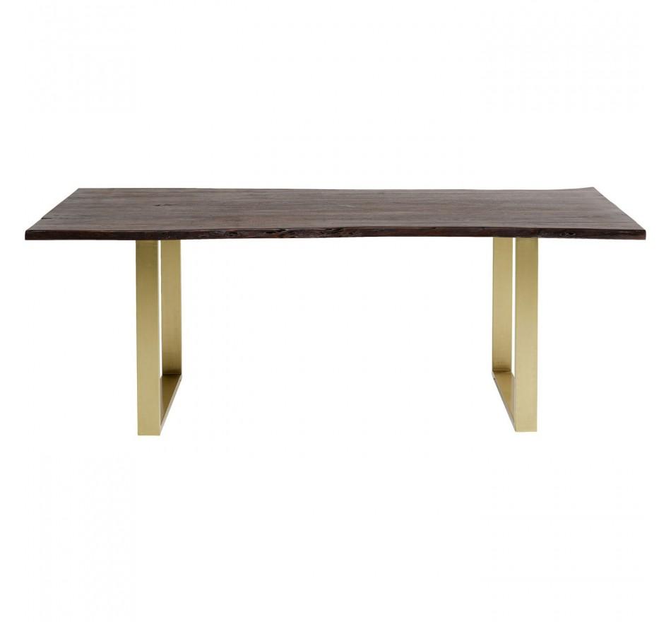 Table Harmony noyer laiton 180x90cm Kare Design