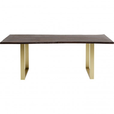 Table Harmony Walnut Brass 180x90cm Kare Design