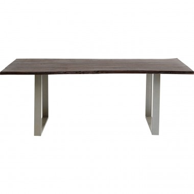 Table Harmony Walnut Silver 160x80cm Kare Design