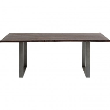 Table Harmony Walnut Crude Steel 180x90cm Kare Design